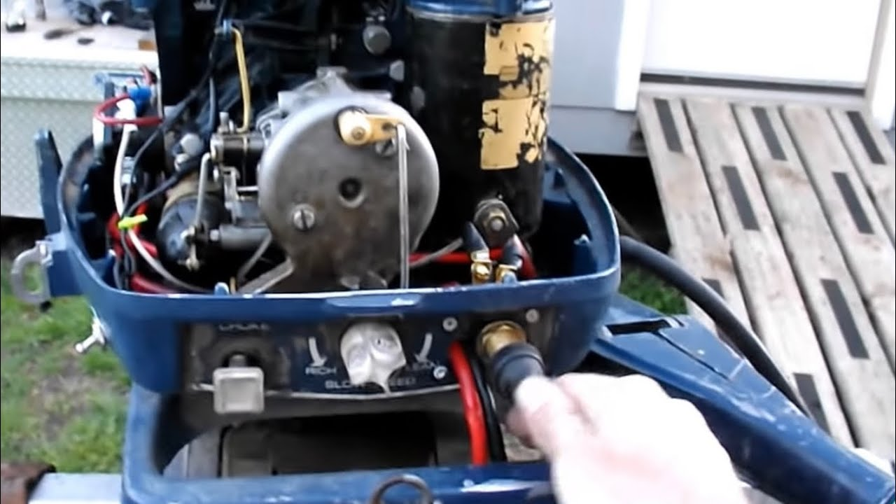 small resolution of 1972 25 hp evinrude converted to push button start