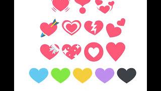 Heart Emojis 💘💗💔💕💝💖💟❤💙💚💛💜 Emoji Kribskrabs Poem (text)