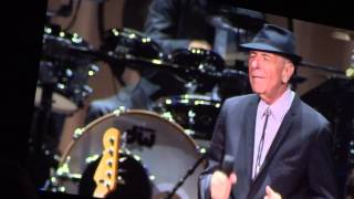 Leonard Cohen, Everybody Knows (live), Amsterdam, Ziggo Dome, 20-09-2013