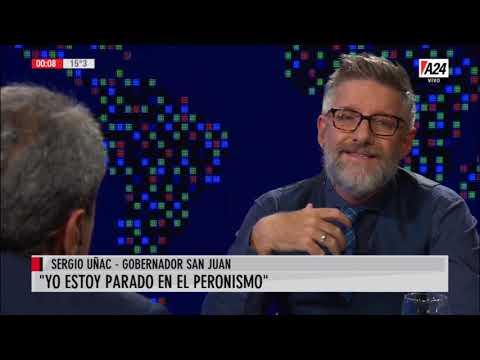 """Sergio Uñac con Novaresio: """"Al gobierno de Macri el faltó vocación de servicio"""""""
