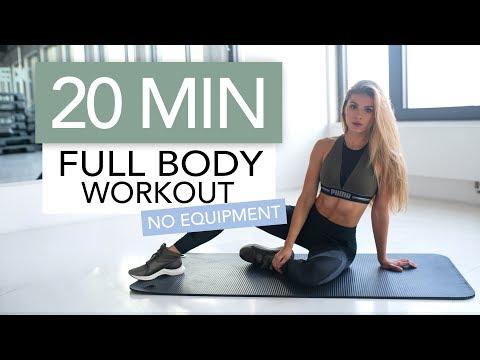 20 MIN FULL BODY WORKOUT // No Equipment | Pamela Rf