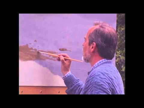 "Claudio Bravo pintando en ""La Pupila del Alma"" (Hugo Arévalo)"