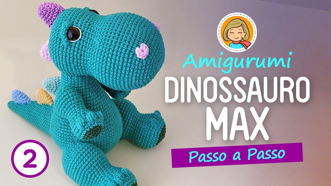 Amigurumi Dino T-Rex no Elo7 | ARTESANATO FLOR DE LIS (D04AD2) | 720x1280