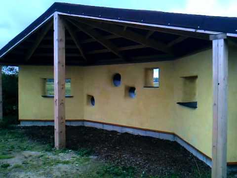 Straw Bale Building - Bird Watching Screen