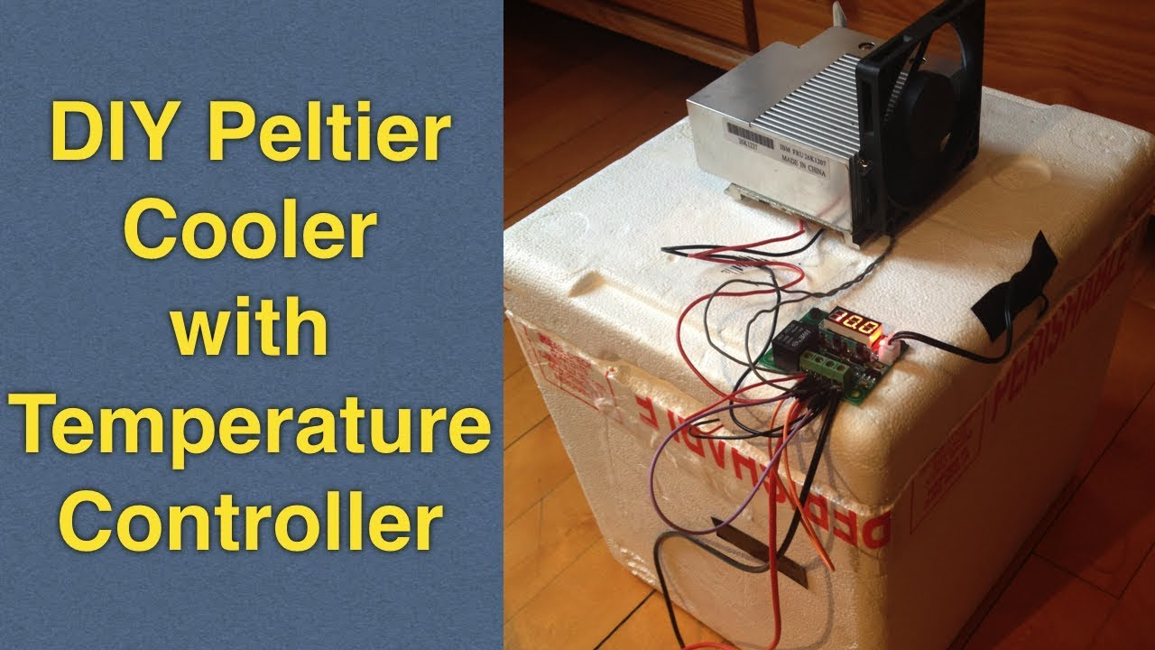 Homemade Peltier Cooler Mini Fridge Diy With Temperature