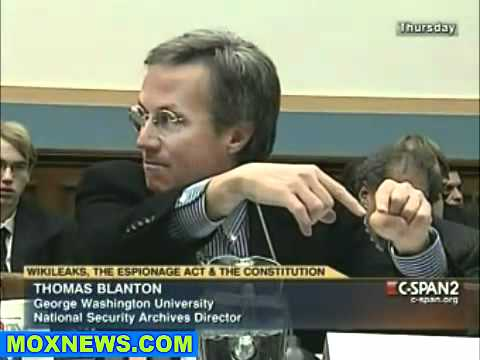 Congressional Hearing  WikiLeaks, The Espionage Act   The Constitution pt.7.flv
