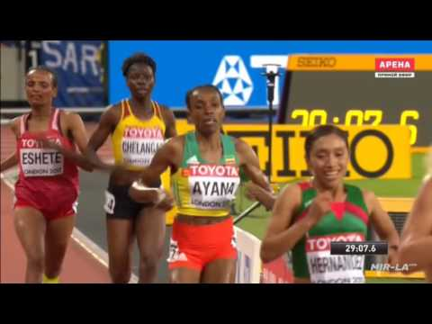 ALMAZ AYANA LONDON - 10000m - WORLD CHAMPIONSHIPS 2017 - Fin