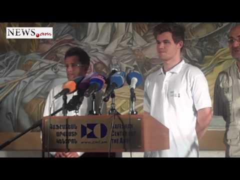 Magnus Carlsen  Press Conference in Yerevan