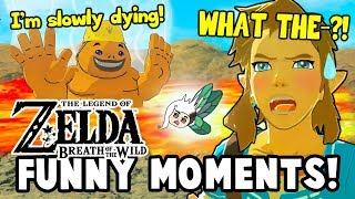 WHAT HAPPENS IF A GORON FALLS INTO DEATH MOUNTAIN?! (Zelda: Breath Of The Wild Funny Moments)