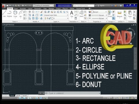 Learning AutoCAD 2013 Tutorial 6: Basic Commands. from YouTube · Duration:  13 minutes 45 seconds