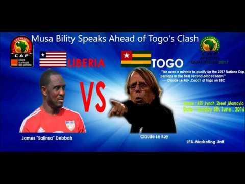 Bility Speaks Ahead of Togo's Match (Audio)