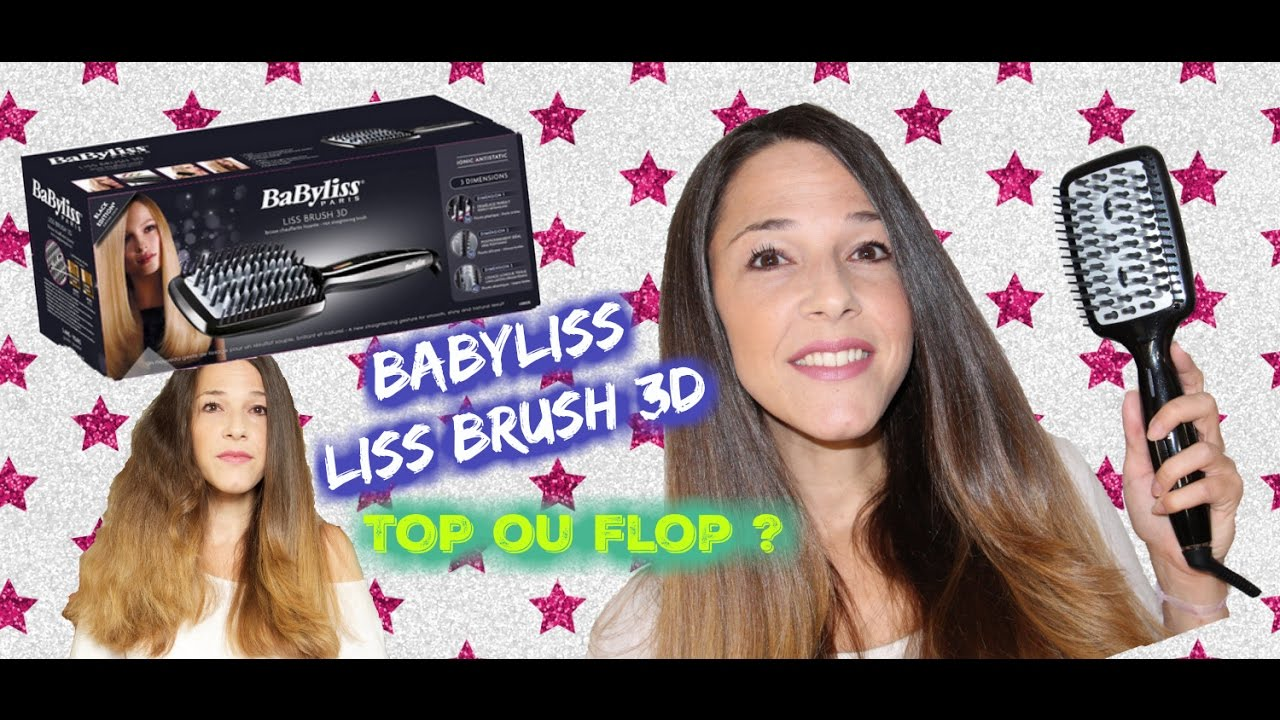 brosse chauffante et lissante babyliss liss brush 3d top ou flop youtube. Black Bedroom Furniture Sets. Home Design Ideas
