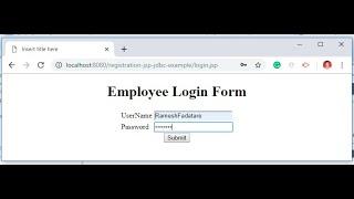 Login Form Using JSP Servlet JDBC MySQL Example