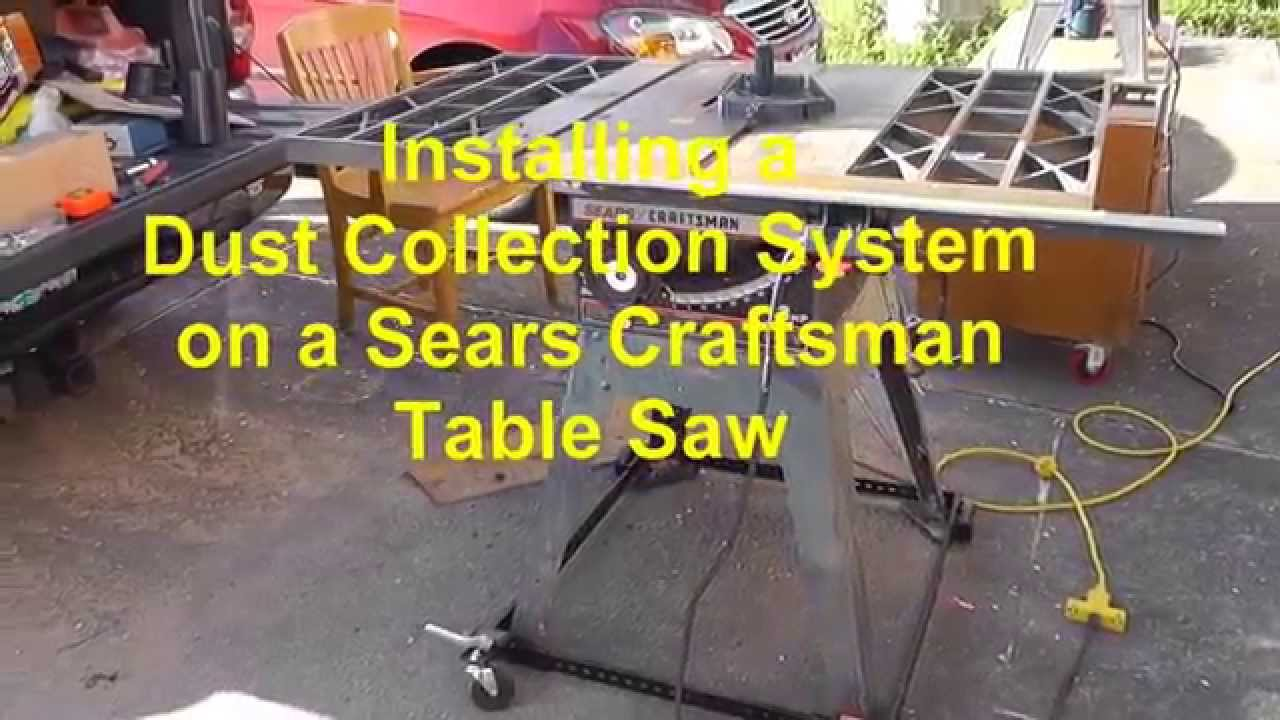 Installing a dust collection system on a craftsman table saw youtube greentooth Image collections