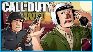 Call of Duty: World War II Funny Moments! - Phone Call Killcam, 1v1's, Nerdy Soldier, 6 Man Killcam!
