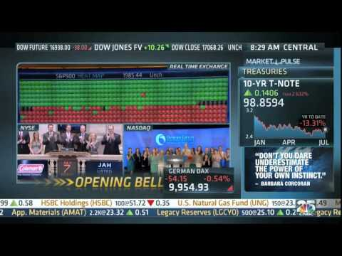 CNBC Opening Bell Coverage of the Alliance ringing the NASDAQ Bell at 1:37