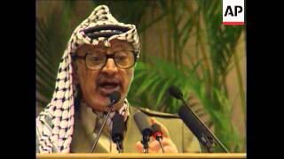INDIA: NEW DELHI: PALESTINIAN LEADER YASSER ARAFAT VISIT