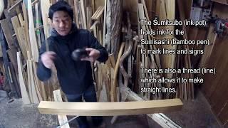 宮大工が職人技で教える初心者のための墨さし、墨つぼ、差し金の使い方、墨のつけ方 japanese woodworking