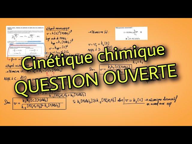 Question ouverte cinétique