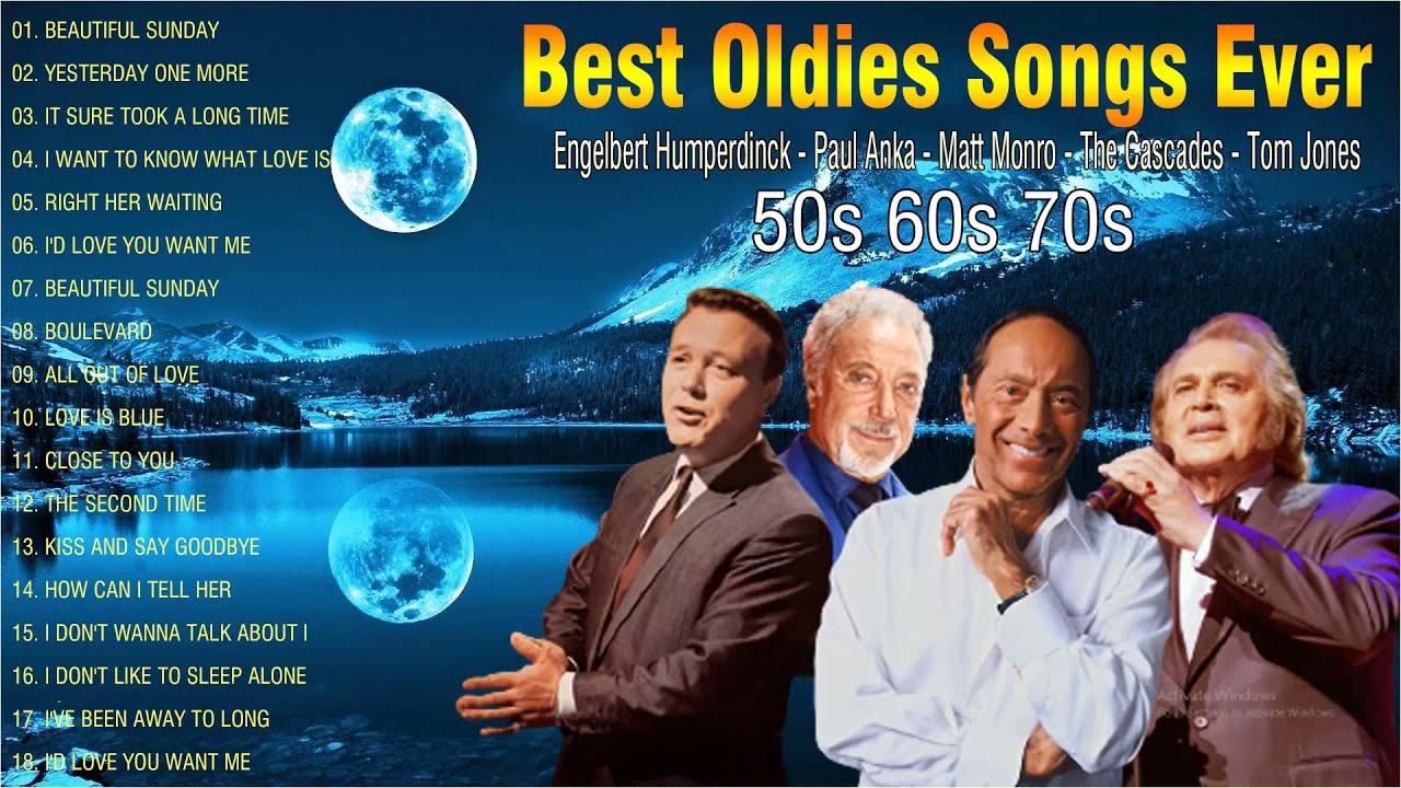 Oldies But Goodies 50's 60's -- Engelbert Humperdinck, Paul Anka , Matt Monro , The Cascades , Elvis