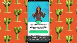 Play trivia with Sandra Vergara, only on Yahoo Play