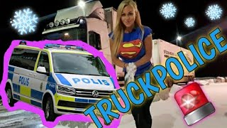 🚔 TRUCK POLICE + BAD WEATHER - Angelica Larsson 👮🏼‍♀️👮🏻‍♂️