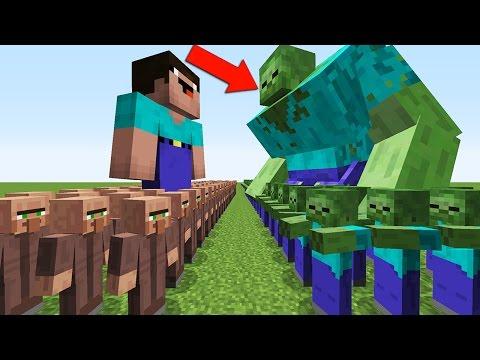 НУБ ЗАЩИЩАЕТ ДЕРЕВНЮ ЖИТЕЛЕЙ ОТ 1000 КЛОНОВ ЗОМБИ И МУТАНТА В МАЙНКРАФТ 3 ! MINECRAFT Мультик Сериал - Видео из Майнкрафт (Minecraft)