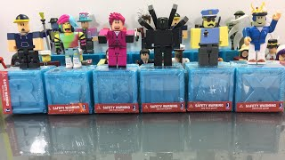 Unboxing Roblox Toys and Giving YOU the Virtual Item Codes! - Series 3 Blue Boxes