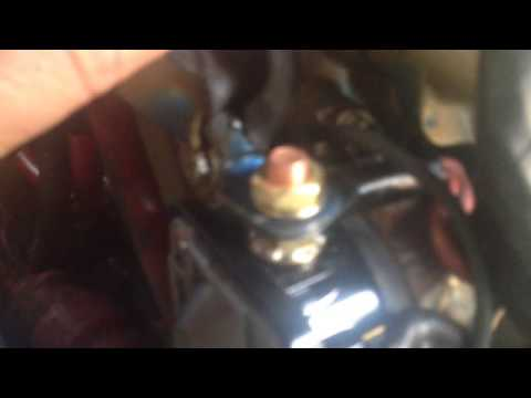 55 hp evinrude starter solenoid replacement - YouTube