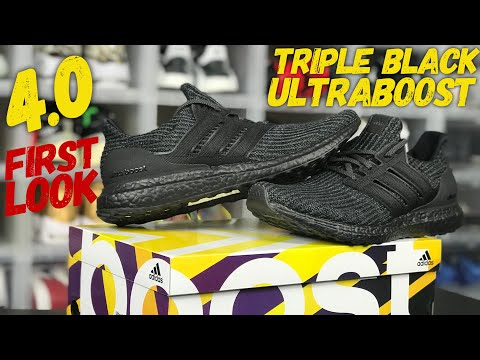 0a03384f022 Adidas Triple Black Ultraboost 4.0 First Look ! Sneaker Unboxing and Review   air trafficking