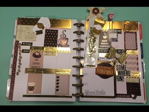 Plan With Me|More Coffee Please|DIY Planner Clips|6/13-16