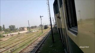 Pakistan Railways: Jaffar Express (up) arriving at kot radha kishan Travel Video