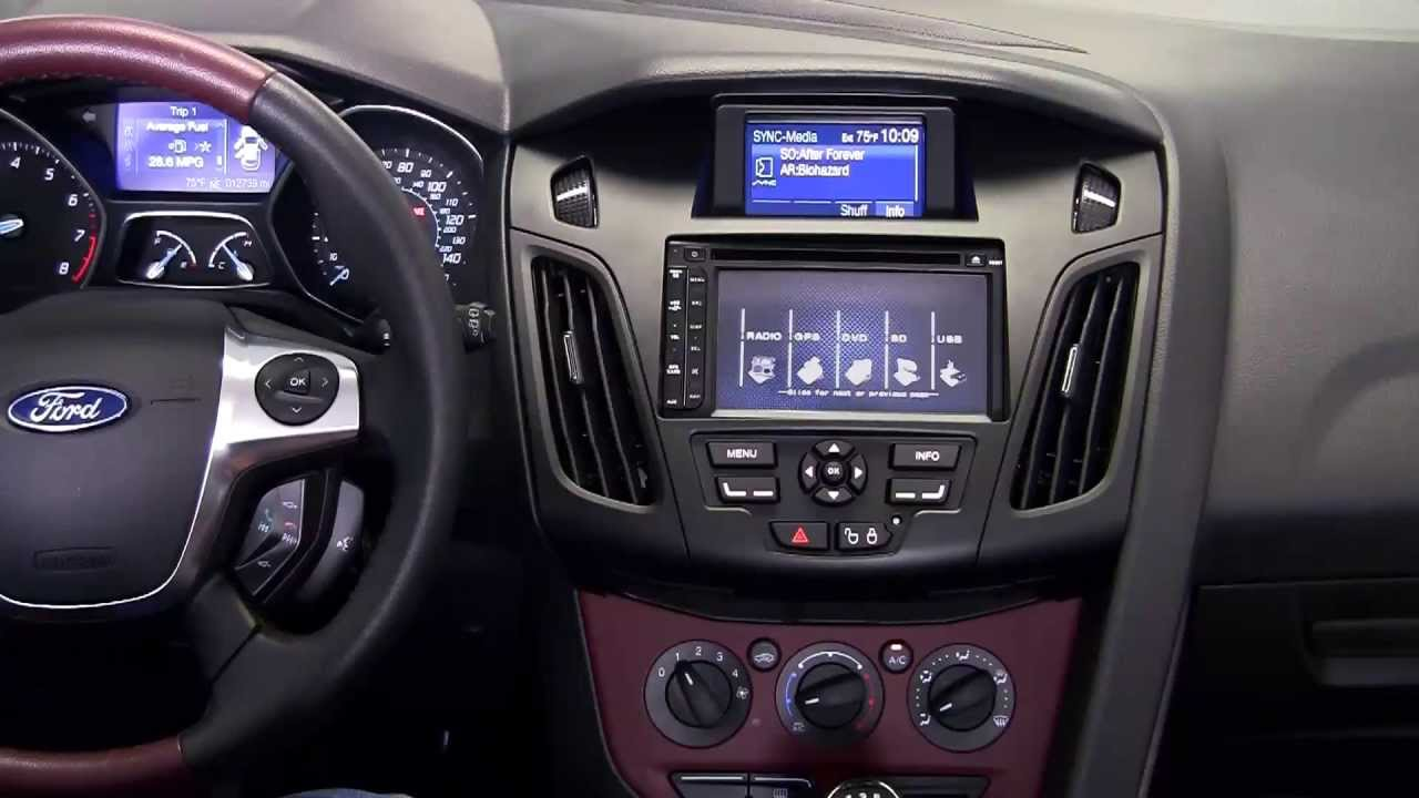 Ford Escape 2014 Custom >> Metra FORD FOCUS 2012 - 2014 99-5827B dash kit - YouTube