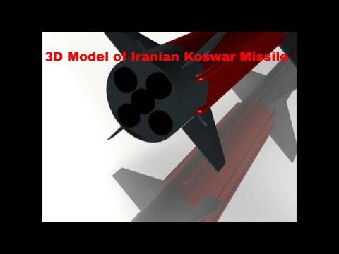 3D Model of Iranian Koswar Missile