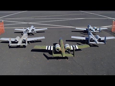 Freewing 80/90mm A-10 Thunderbolt II - EPIC FIVE SHIP FLIGHT!!! AEF 2018