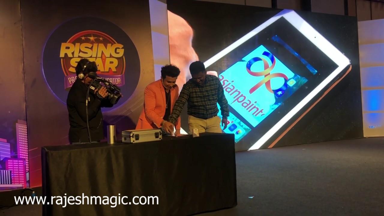 Rajesh kumar ipad magic at JW Marriott Mumbai Sahar for corporate event