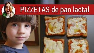 PIZZETAS de pan lactal: receta para que cocinen los niños - Especial día del niño