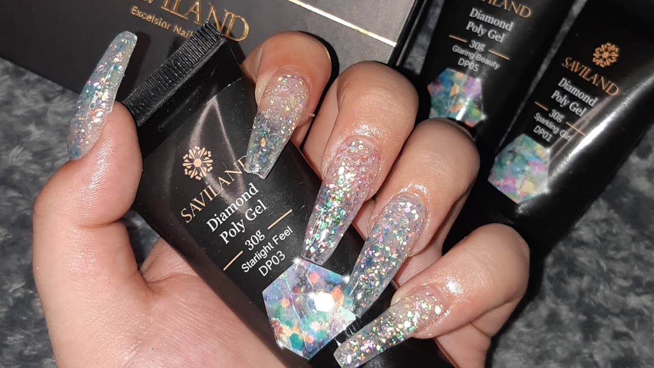 DIY: REVIEWING SAVILAND DIAMOND POLYGEL FROM AMAZON! PRESS ONS AND HONEST REVIEW!