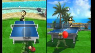 wii sports resort table tennis gameplay
