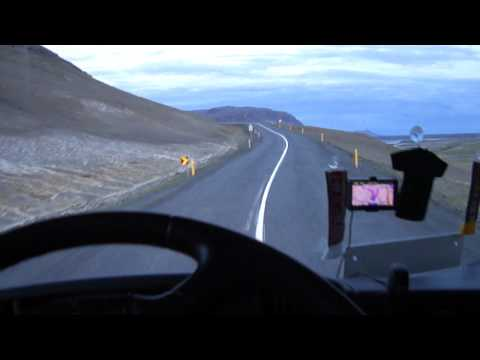 Truck driving in Iceland