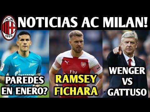 RAMSEY ROSSONERO? TODOS LESIONADOS! WENGER VS GATTUSO! NOTICIAS AC MILAN!