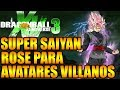 Dragon Ball Xenoverse 3 SUPER SAIYAN ROSE PARA AVATARES IDEAS XENOVERSE 3