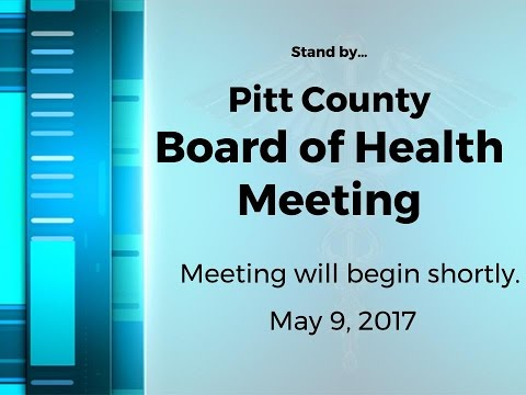 Pitt County Board of Health meeting for 5/9/2017
