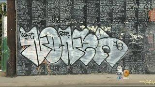 Vandals Deface Vietnam War Memorial In Venice