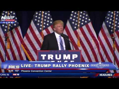 FULL SPEECH: Donald Trump Phoenix Rally - MUST WATCH Immigration Speech - FNN 8/31/16