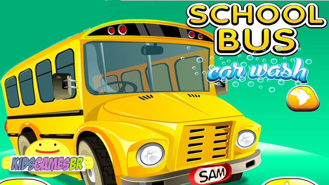 Bus Car Wash Games