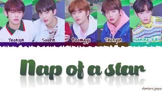 Gambar cover TXT - 'NAP OF A STAR' (별의 낮잠) Lyrics [Color Coded_Han_Rom_Eng]