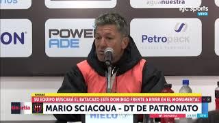 Patronato: Sciacqua resumió su táctica para frenar a River