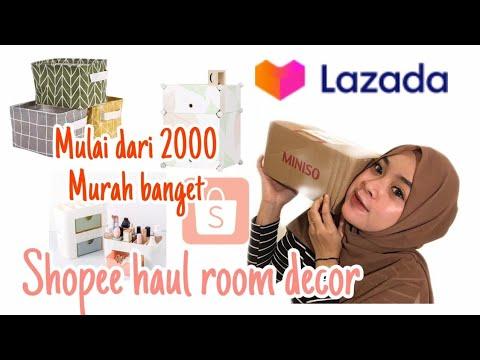 shopee haul room decor kamar kost    aesthetic haul