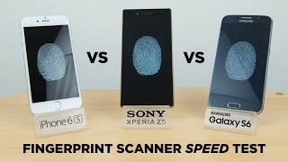 iPhone 6s vs Xperia Z5 vs Galaxy S6 - Fingerprint Scanner Speed Test